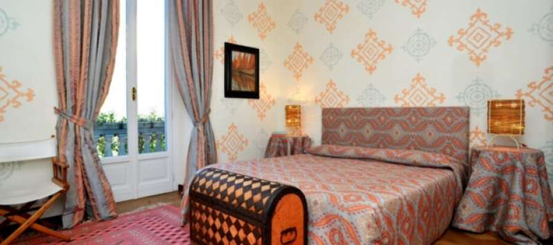 Villa Ilia large double room with fine fabrics